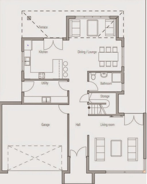 Planos de casas de dos pisos moderna minimalista for Planos de casas de dos pisos modernas