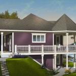 Planos de casas en declive