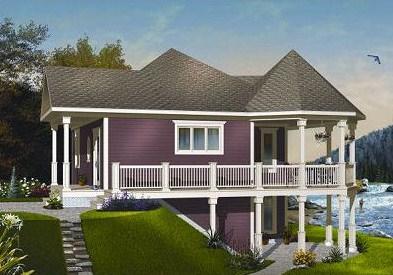 Planos de casas en pendientes pronunciadas - Casas en pendiente ...