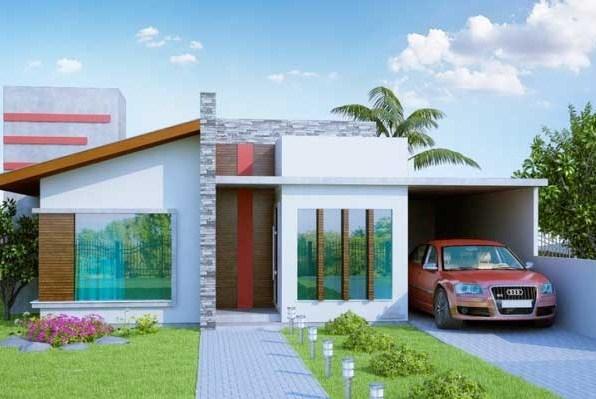 Planos de casas modernas con cochera para dos carros