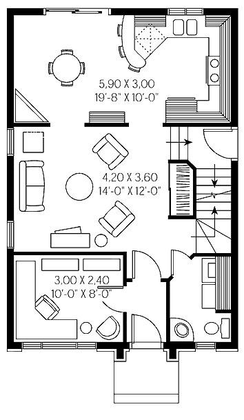 Planos de casas rectangulares de dos plantas - Planos de casas de dos plantas ...