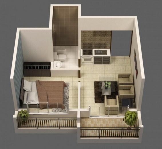 Planos de departamentos de 25m2 for Diseno de apartamento de una habitacion