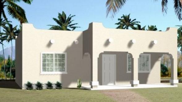 Plano de casa colonial moderna de 70 metros cuadrados for Casa moderna 50 metros cuadrados