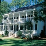 Plano de casa estilo colonial de 4 dormitorios