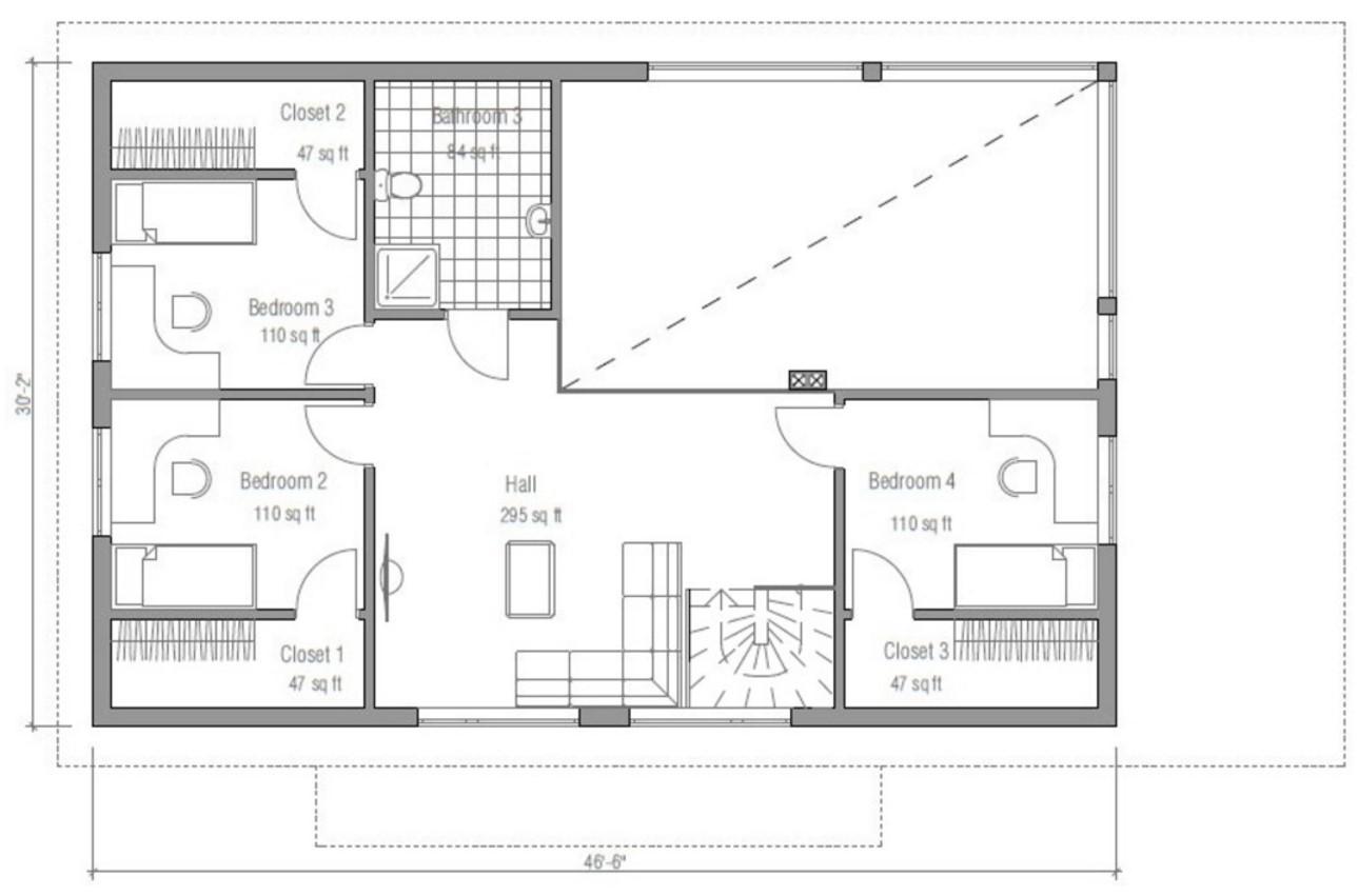casa revestida en madera con 4 dormitorios