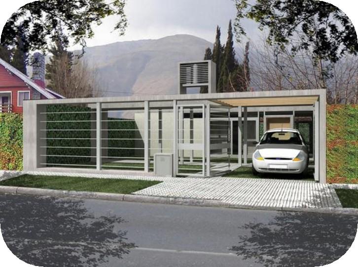 Casa de 80 metros cuadrados con tinglado para auto for Casas modernas 80 metros cuadrados