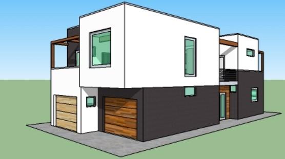 Planos de casas de dos plantas de 100 metros cuadrados for Cuanto cuesta un plano para construir una casa