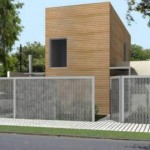 Plano de casa de 2 dormitorios con posible ampliación