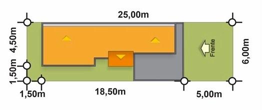 Diseño de casa de 6 metros de frente