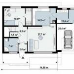Diseño de casa de dos plantas con cochera