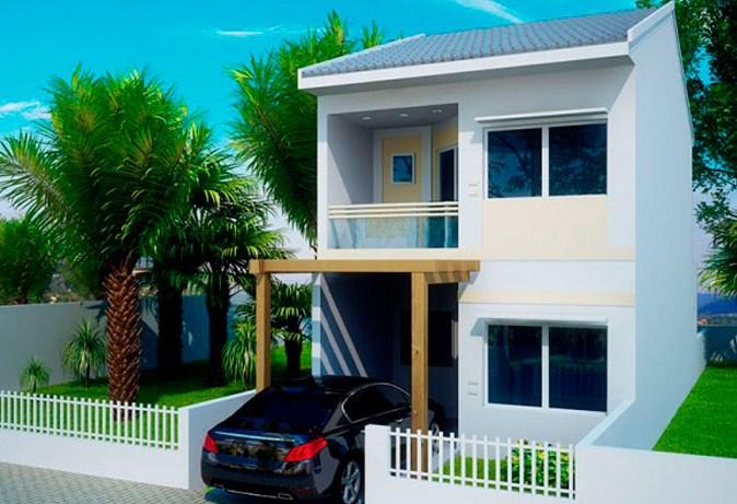 Diseño de casa larga y angosta