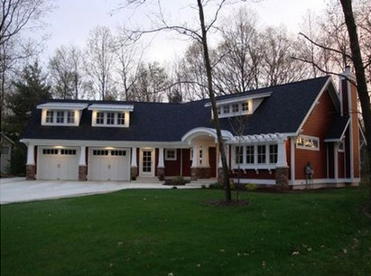 Fachada de casa con habitaciones de huespedes