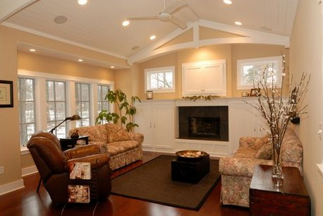 Living de casa clasica