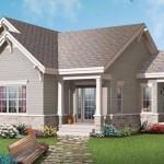Plano de casa de 3 ambientes