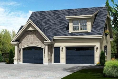 Plano de casa de dos pisos con garaje for Modelos de techos para casas de dos pisos