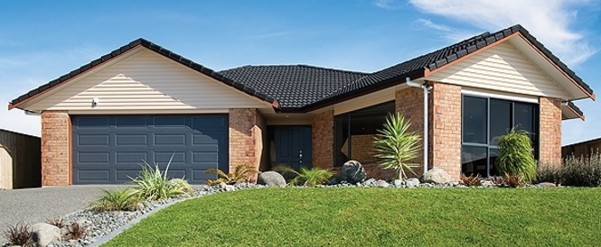 Modelo de casa en colina