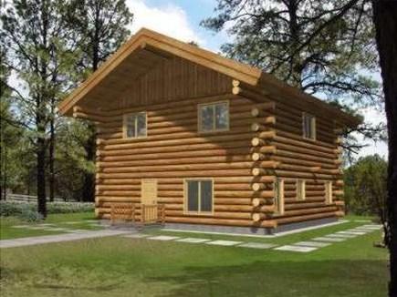 Plano de cabaña de troncos