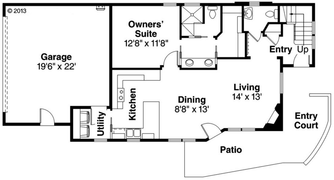 Plano de casa de 180 metros cuadrados con 2 pisos