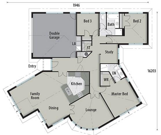 Plano de casa en colina