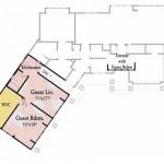 Plano de casa con habitacion para huespedes