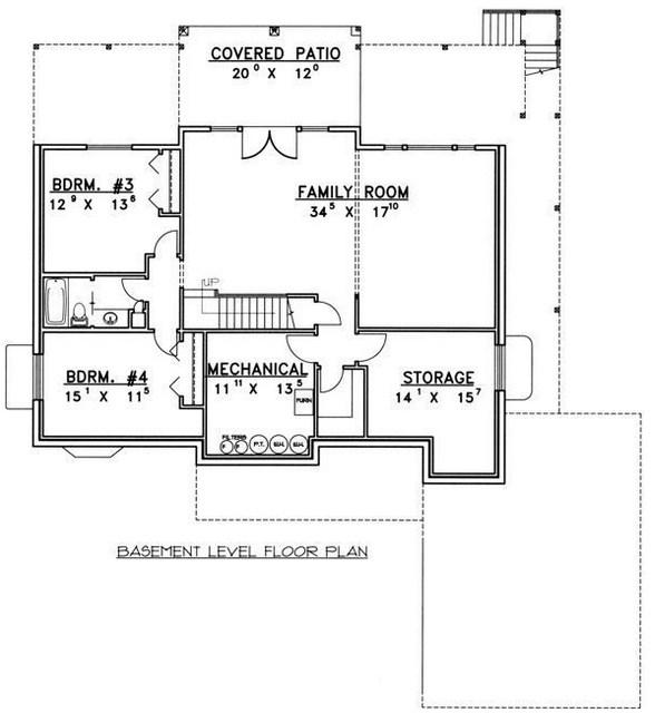 Plano de casa moderna para terreno en desnivel