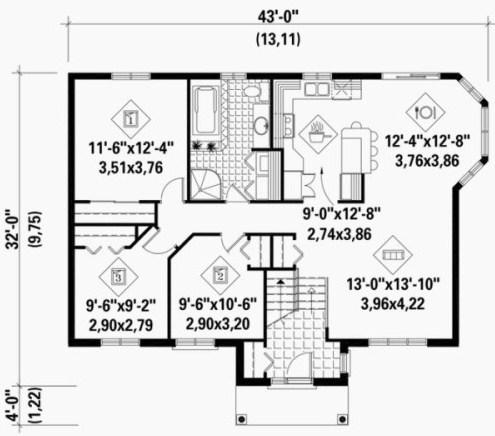 Plano de casa sencilla