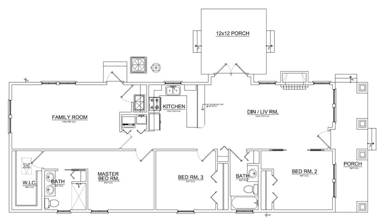 Plano de casa de 3 dormitorios for Planos de casas de tres dormitorios en una planta