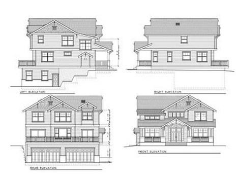 Planos de casas con garage en el subsuelo