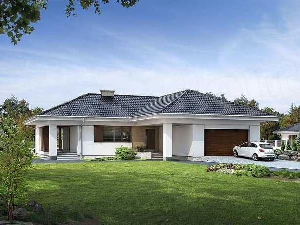 Plano de casa con techo a 4 aguas for Modelos de casas de madera de un piso