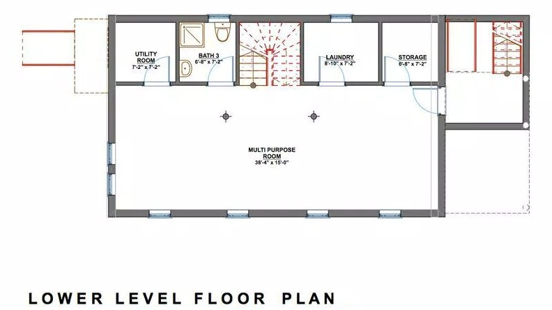 planos de casas de 3 plantas con subsuelo
