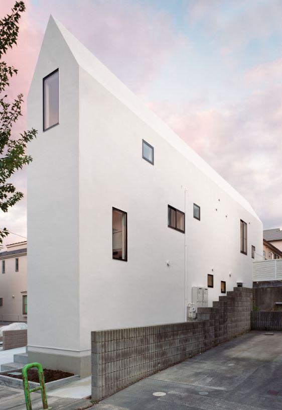 Casa angosta fachada y lateral