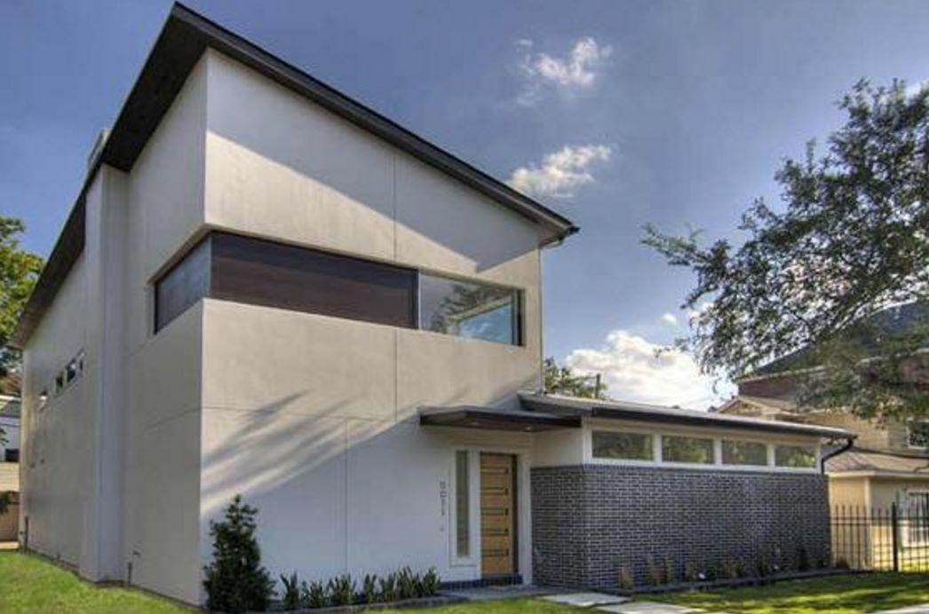 planos de casas modernas de dos pisos en terrenos angostos