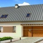 Casa con techo a dos aguas