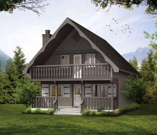 Casa con techo a dos aguas fotos
