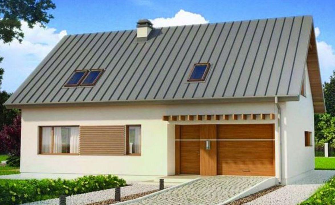 Casa con techo a dos aguas for Techos exteriores para casas