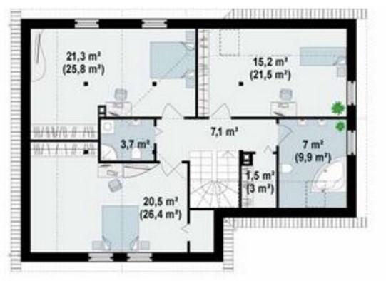 Casa con toques modernos de 3 dormitorios
