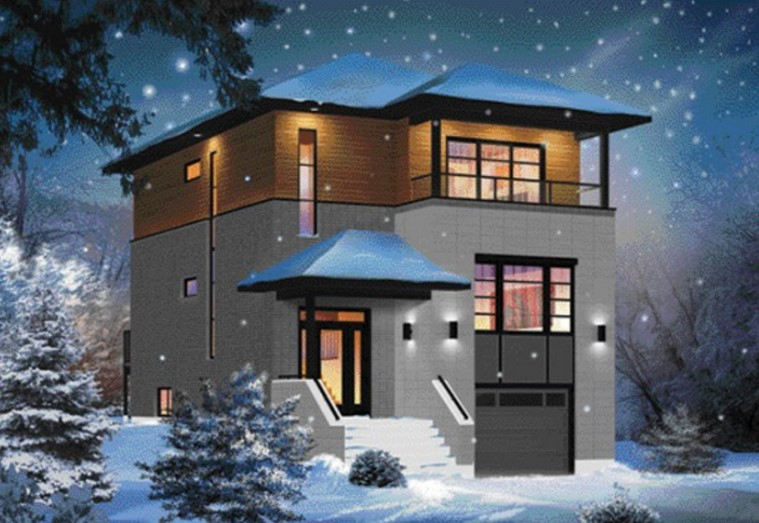 Casa de 3 pisos con garaje