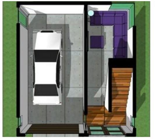 Casa minimalista pequeña planos