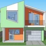 Casa moderna de 100 metros cuadrados