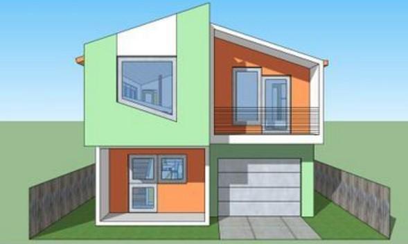 2 dormitorios planos y casas for Casa moderna 50 metros cuadrados