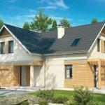Casa moderna y tradicional