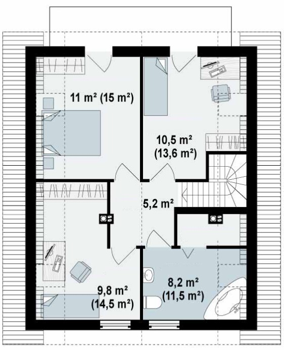Casa rustica de 2 pisos for Planos para construccion de casas