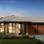 Diseño de casa moderna de 3 habitaciones y 2 baños
