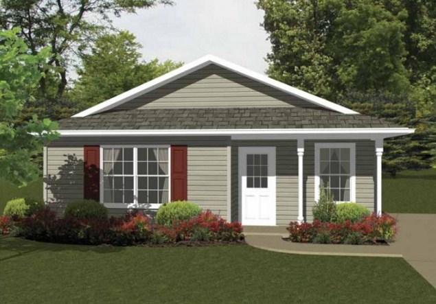 Diseño de casa sencilla de 2 dormitorios