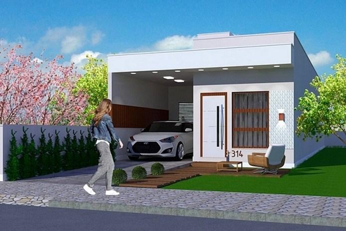 Planos de casas sencillas de un piso y 2 dormitorios for Diseno de casa sencilla