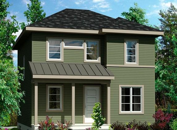 Modelo de casa de 7 x 8 m