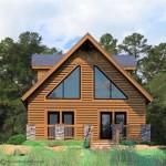 Diseño de casa de madera de dos pisos