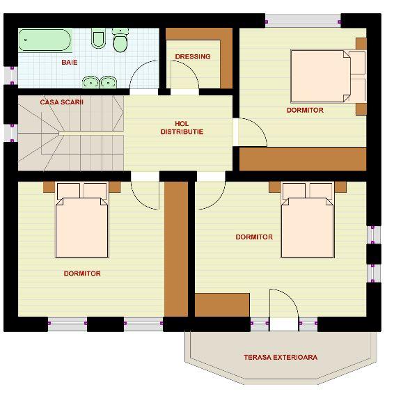 Modelos de casas de 2 pisos con 3 dormitorios