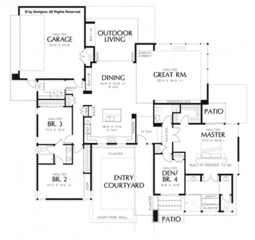 Plano de casa contemporanea