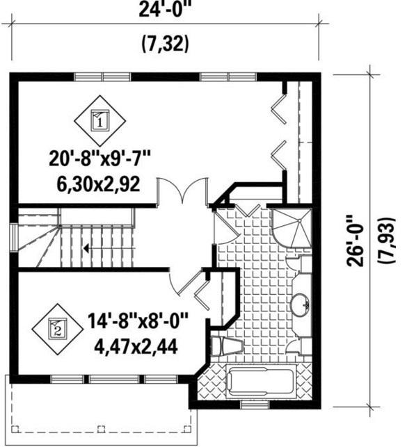 Planos de casas 5 x 7 for Diseno de casa de 5 x 10